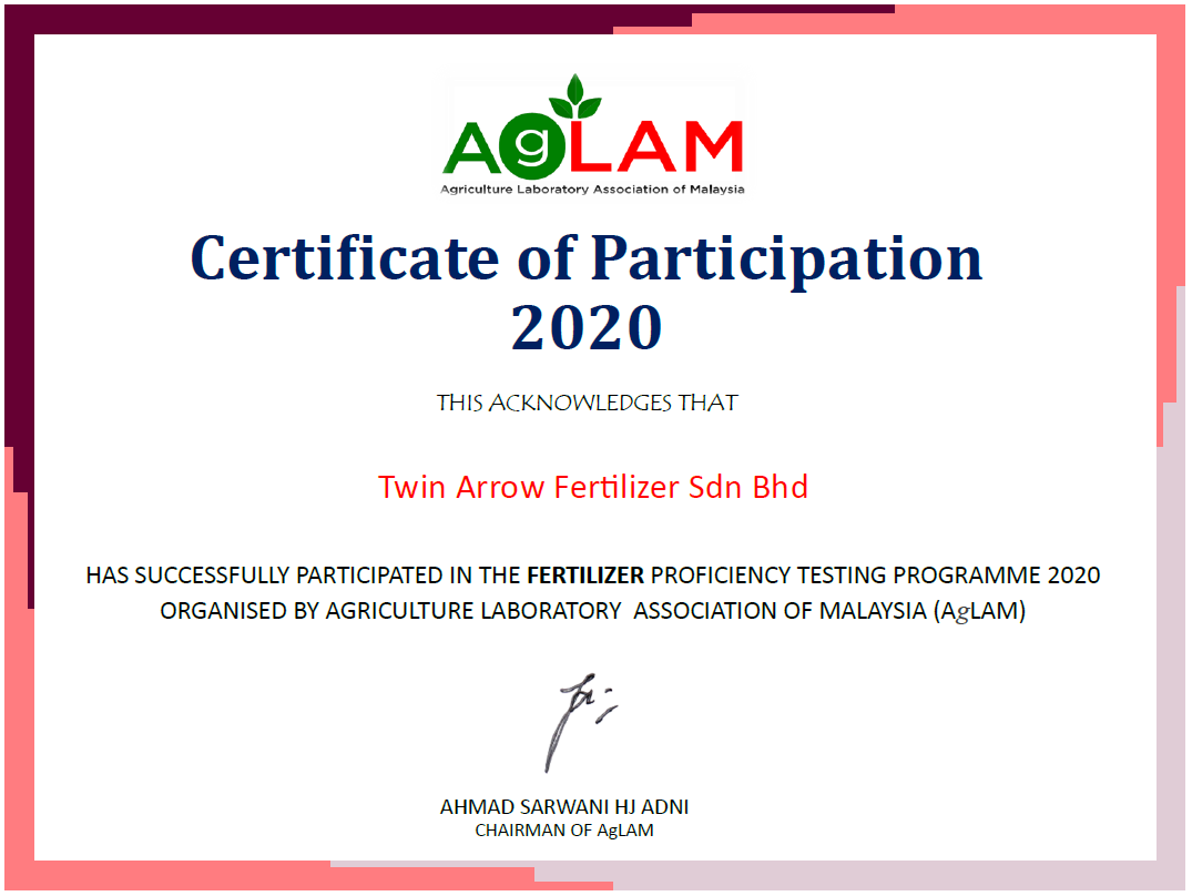 THE FERTILIZER PROFICIENCY TESTING PROGRAMME 2020
